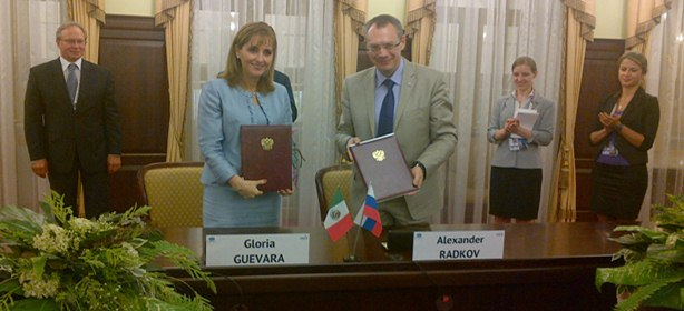 Firma de convenio de colaboracion Rusia México en materia de turismo