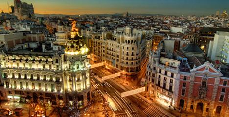 Vista de la ciudad de Madrid
